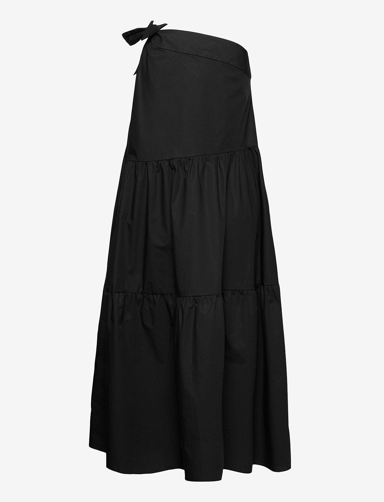Ivy & Oak - ONE SHOULDER DRESS MAXI LENGHT - sommerkjoler - black - 1