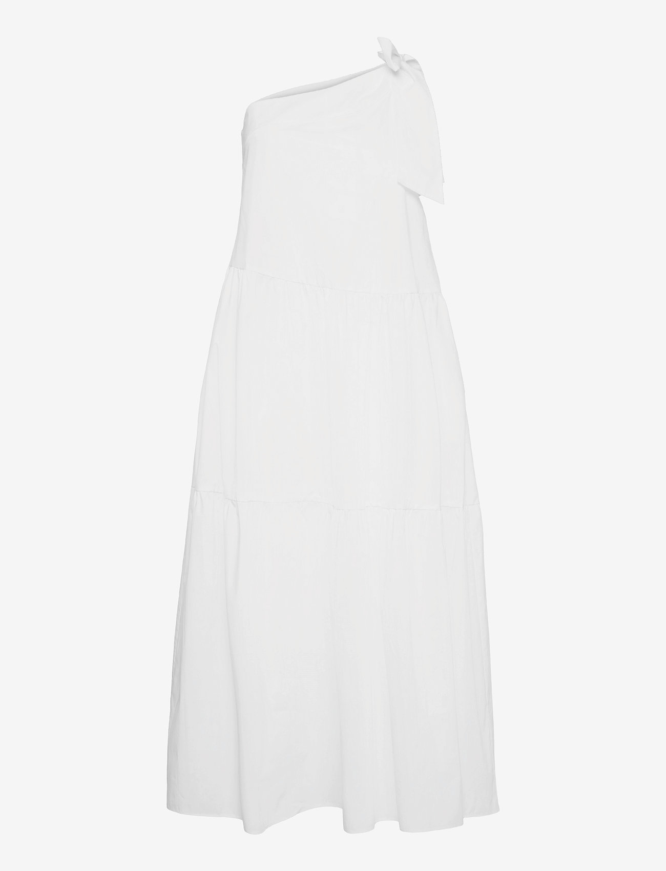 Ivy & Oak - ONE SHOULDER DRESS MAXI LENGHT - sommerkjoler - bright white - 0