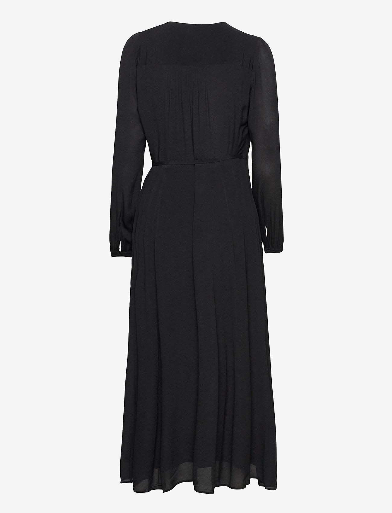 Ivy & Oak - WRAP DRESS ANKLE LENGTH - sommerkjoler - black - 1