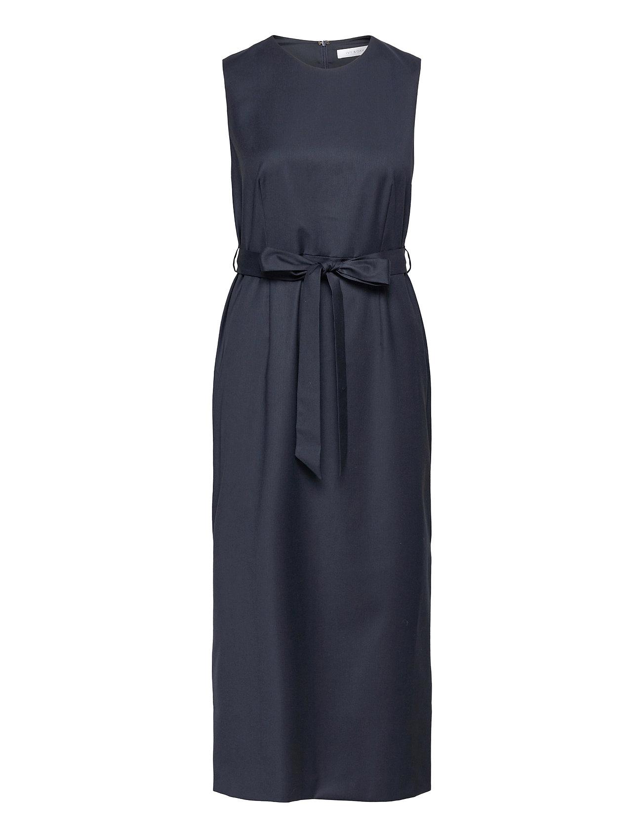 Image of Belted Dress Midi Length Knælang Kjole Blå Ivy & Oak (3468066067)
