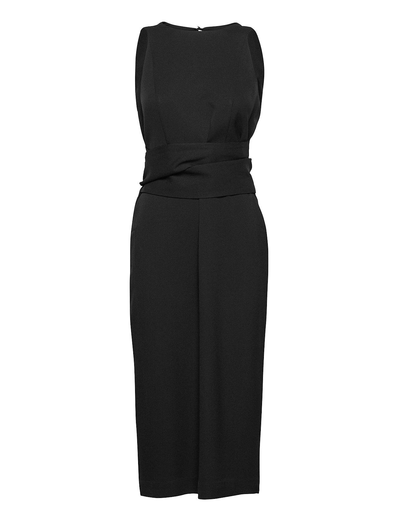 Image of Wrap Dress Midi Length Knælang Kjole Sort Ivy & Oak (3490040621)