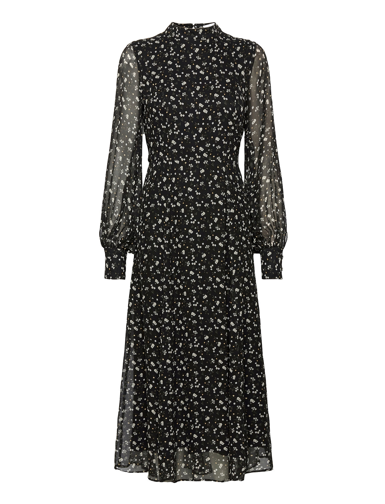 Image of Flared Dress Midi Length Knælang Kjole Sort Ivy & Oak (3468424603)