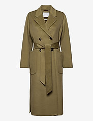 Ivy & Oak - DOUBLE BREASTED COAT - wollen jassen - sage green - 0