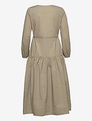 Ivy & Oak - CORDED SHIRT DRESS MIDI LENGHT - summer dresses - sage green - 1