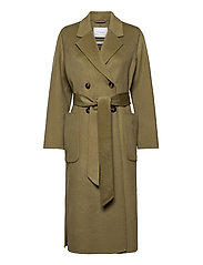 DOUBLE BREASTED COAT - SAGE GREEN