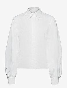 BLOUSE WITH BIG SLEEVE - långärmade skjortor - bright white