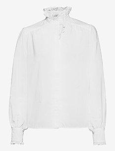RUFFLE BLOUSE - long sleeved blouses - bright white