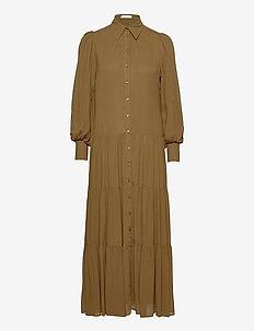 SHIRT DRESS MAXI - skjortklänningar - beech
