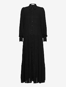 SHIRT DRESS MAXI - skjortklänningar - black