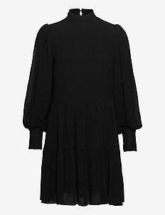 SHIRT DRESS MINI - midiklänningar - black
