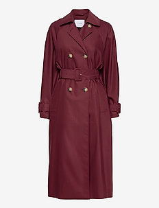 UTILITY TRENCH - trenchcoats - bordeaux