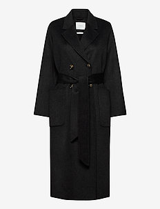 DOUBLE BREASTED COAT - ullkappor - anthracite