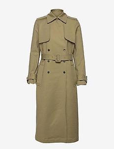 PUKA - trench coats - sage green
