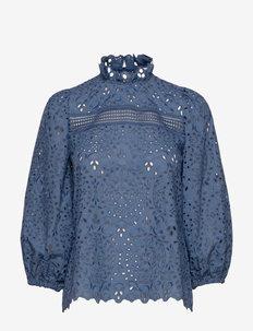 AJUGA - long sleeved blouses - smoked sapphire