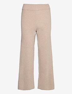 KNIT CULOTTE PANTS - straight leg trousers - pomice
