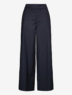 MARLENE PANTS - wide leg trousers - navy blue