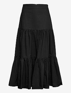 SKIRT ANKLE LENGHT - midi kjolar - black