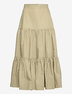 SKIRT ANKLE LENGHT - midi kjolar - sage green