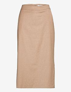 PENCIL SKIRT MIDI LENTGH - midi kjolar - sand melange
