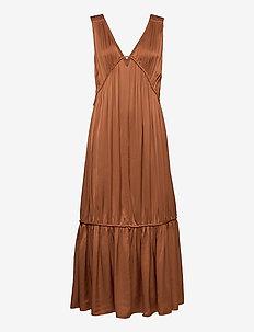 CORDED DRESS - sommarklänningar - dark dusty blush