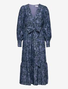 PUFFY SLEEVE DRESS MIDILENGTH - sommarklänningar - aegean blue