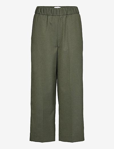 PAULA - bukser med lige ben - silver pine