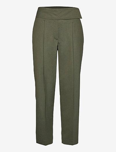PHOEBE - bukser med lige ben - silver pine