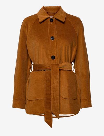 JOY ANN - overshirts - nutmeg brown