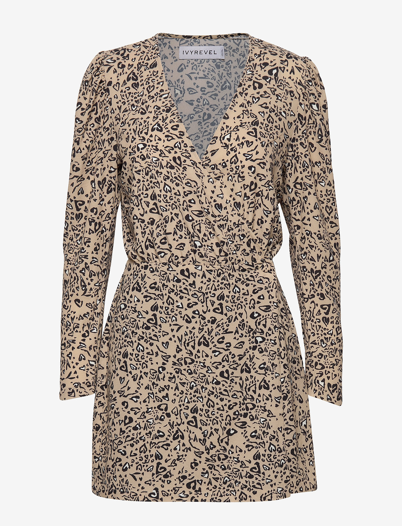 Ivyrevel - WOVEN WRAP MINI DRESS - robes portefeuille - animal hearts - 0