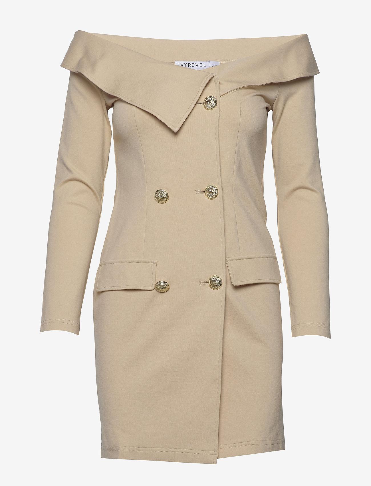 Ivyrevel - OFF SHOULDER BLAZER DRESS - robes de cocktail - beige - 0