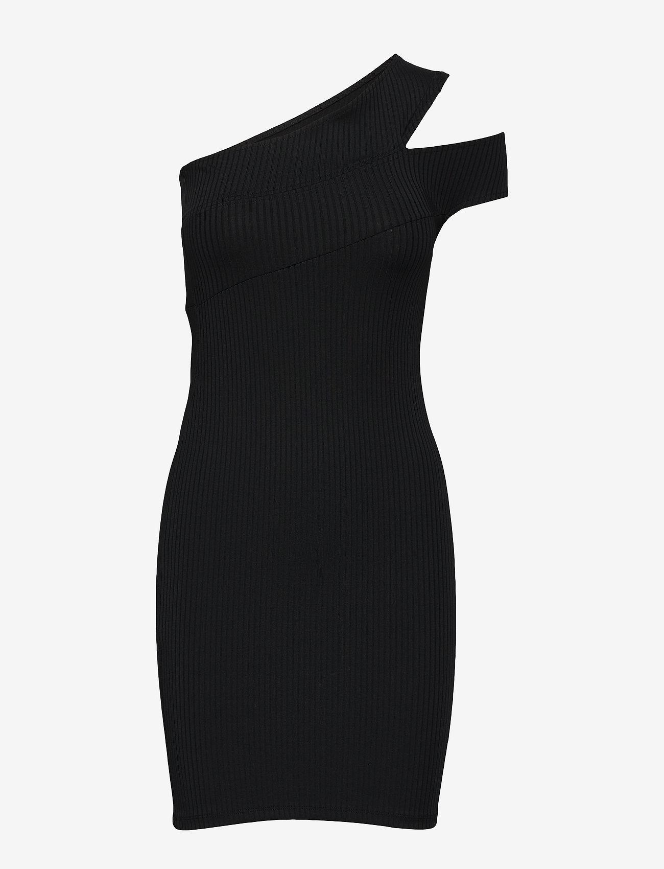 Cross Shoulder Dress (Black) - Ivyrevel GnkaC9