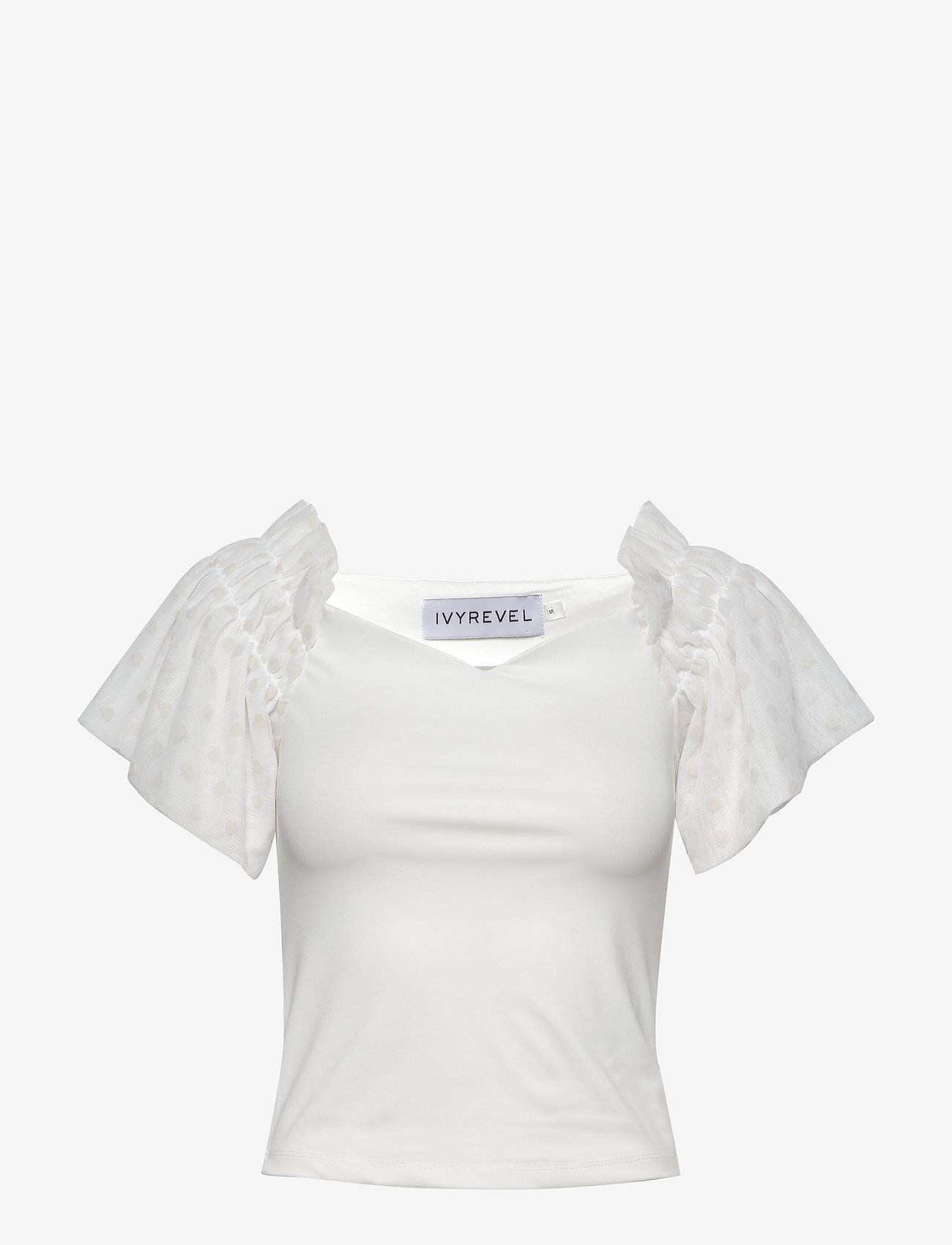 Ivyrevel - MESH SLEEVE TOP - blouses à manches courtes - off white - 0