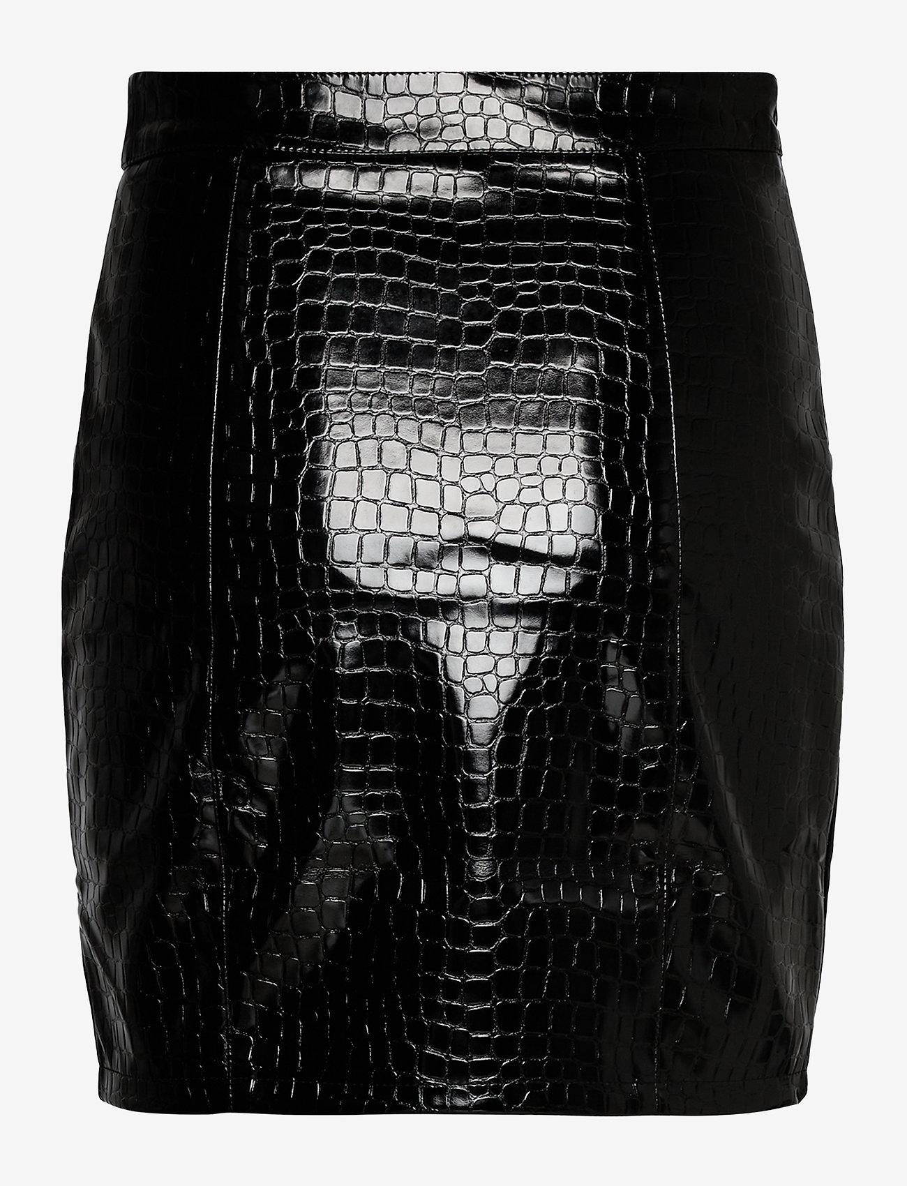 Ivyrevel - PU MINI SKIRT - jupes crayon - black croco - 1
