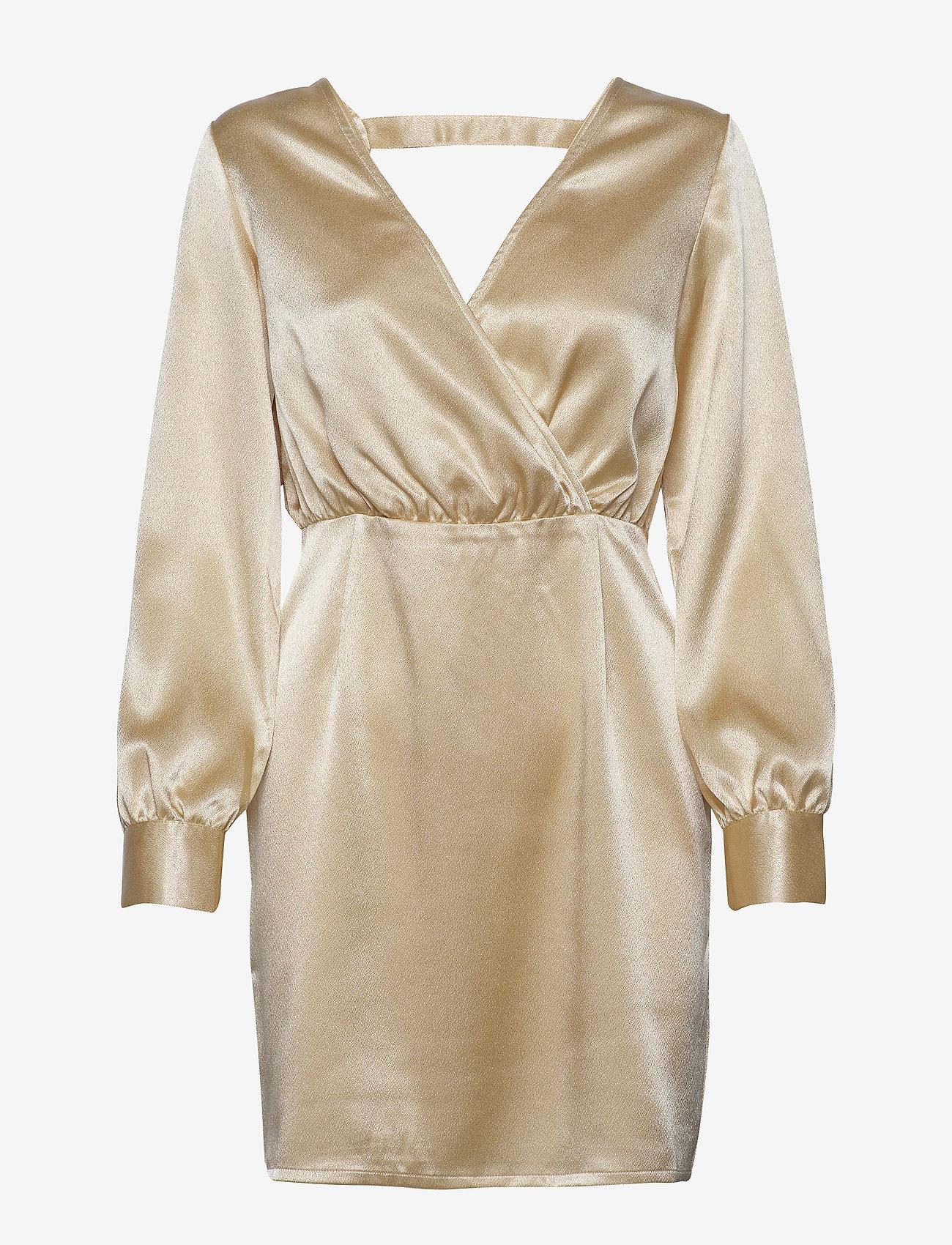 Ivyrevel - V NECK DRAPY DRESS - robes courtes - gold - 0