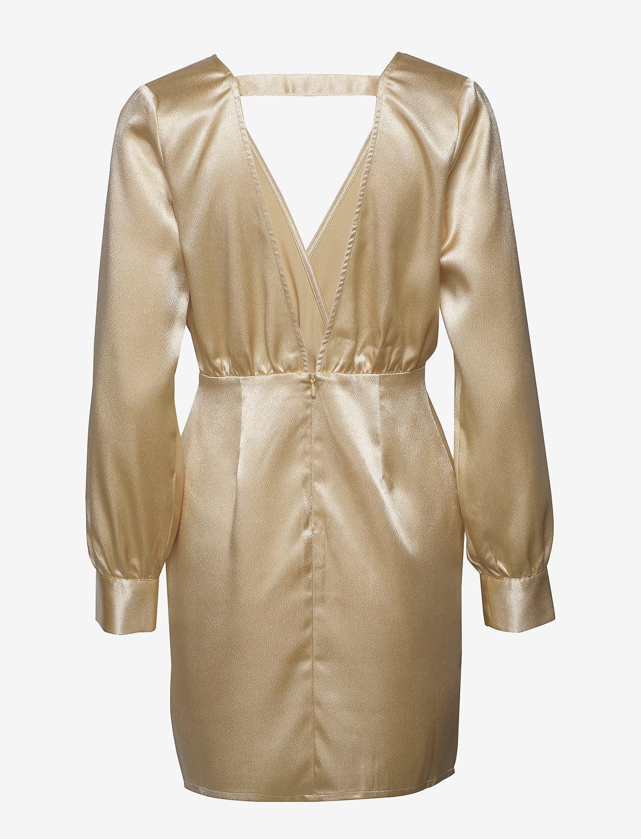 Ivyrevel - V NECK DRAPY DRESS - robes courtes - gold - 1