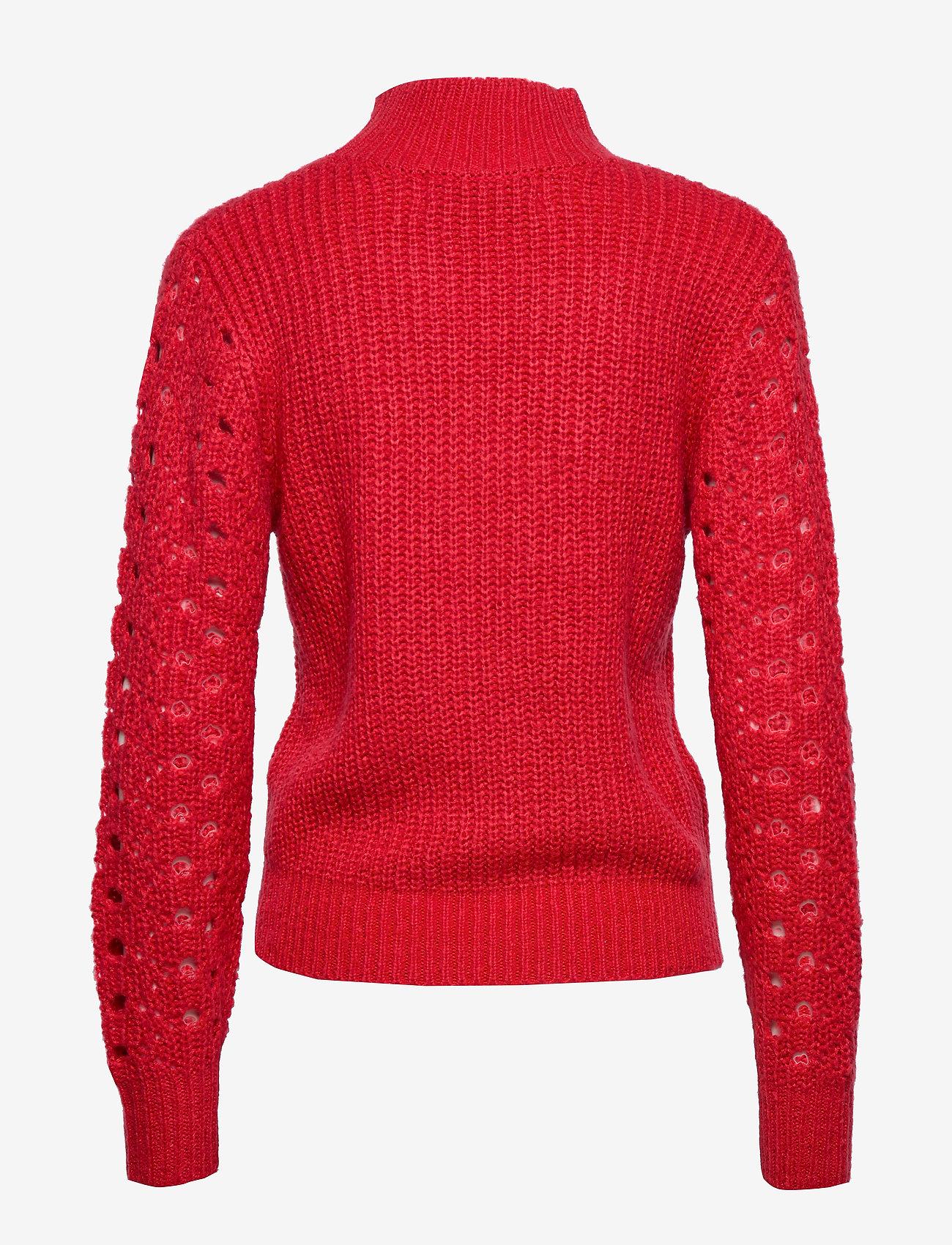 Ivyrevel HIGH COLLAR POINTELLE KNIT - Dzianina BURNT RED - Kobiety Odzież.
