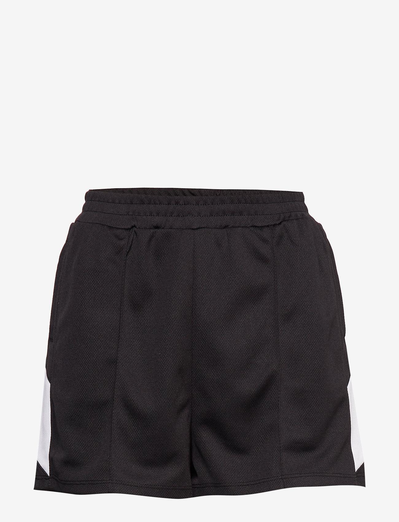 High Waist Side Panel Shorts (Black) - Ivyrevel aWMfGF