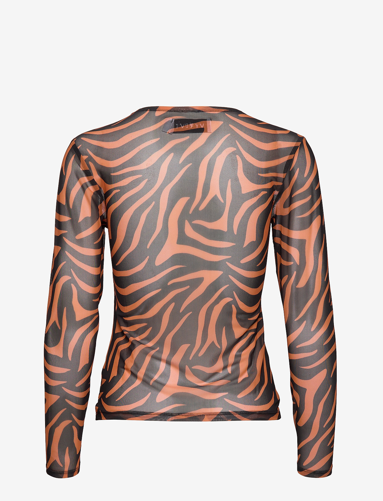 Ivyrevel - MESH LONG SLEEVE TOP - hauts à manches longues - black/orange zebra - 1