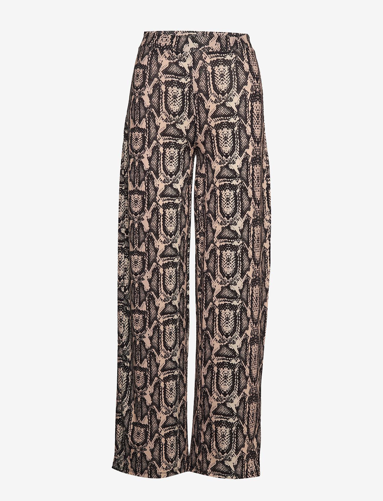 Ivyrevel - SHINY WIDE LEG PANTS - pantalons larges - beige snake - 0