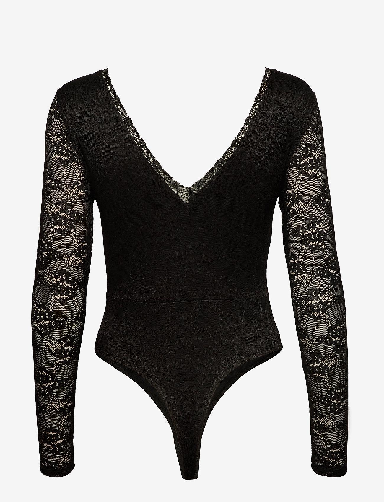 Ivyrevel - DEEP V LACE BODY - body - black - 1