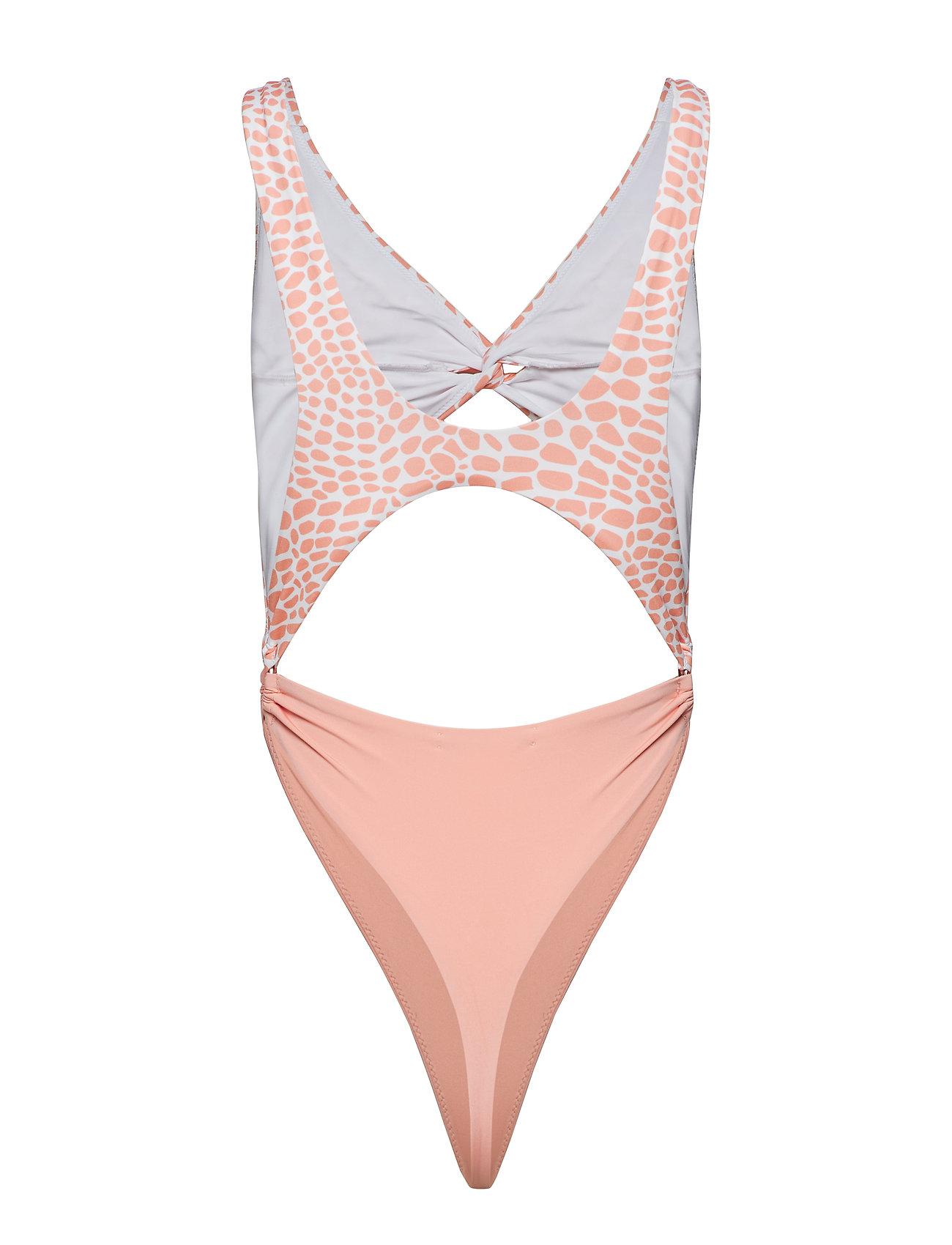 Twist Pink Printlight Swimsuitlight Front PinkIvyrevel Croco white mn0PNyOv8w
