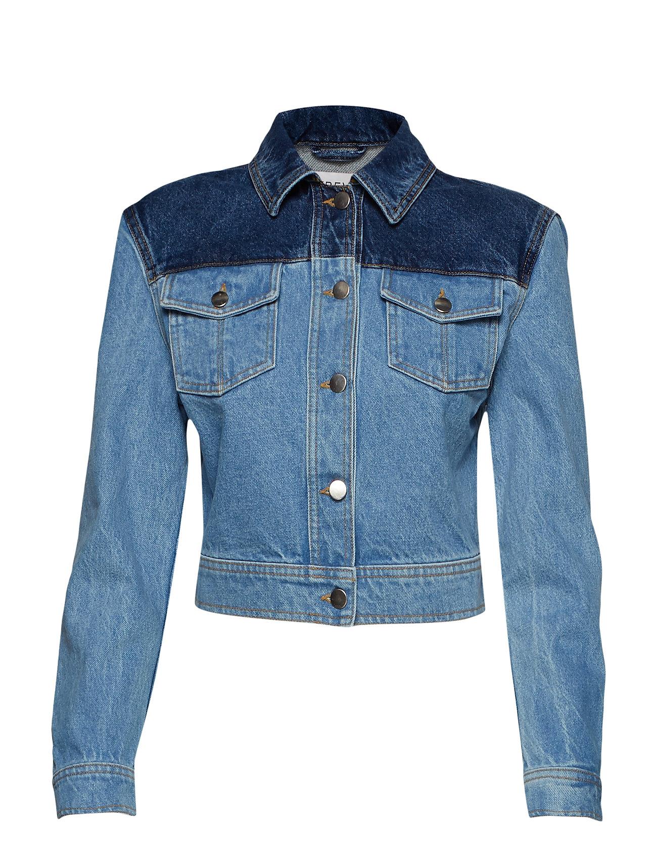 Ivyrevel Sharp Shoulder Denim Jacket - BLUE