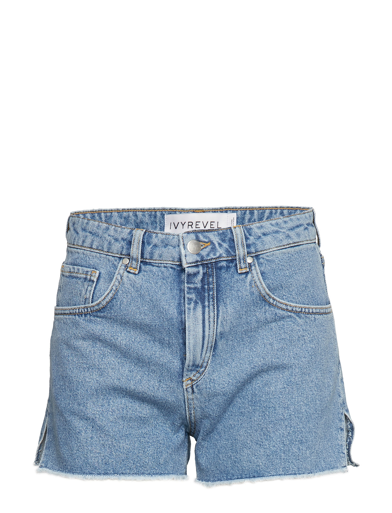 Ivyrevel Raw Edge Denim Shorts - BLUE