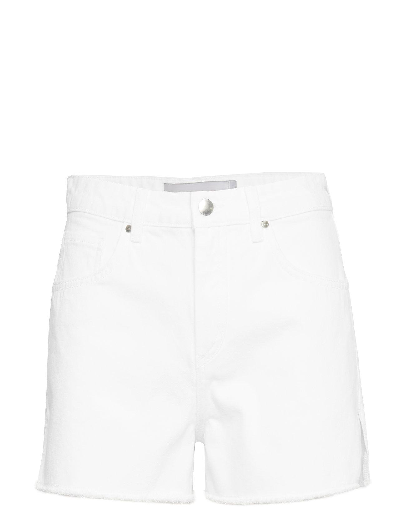 Ivyrevel Raw Edge Denim Shorts - WHITE