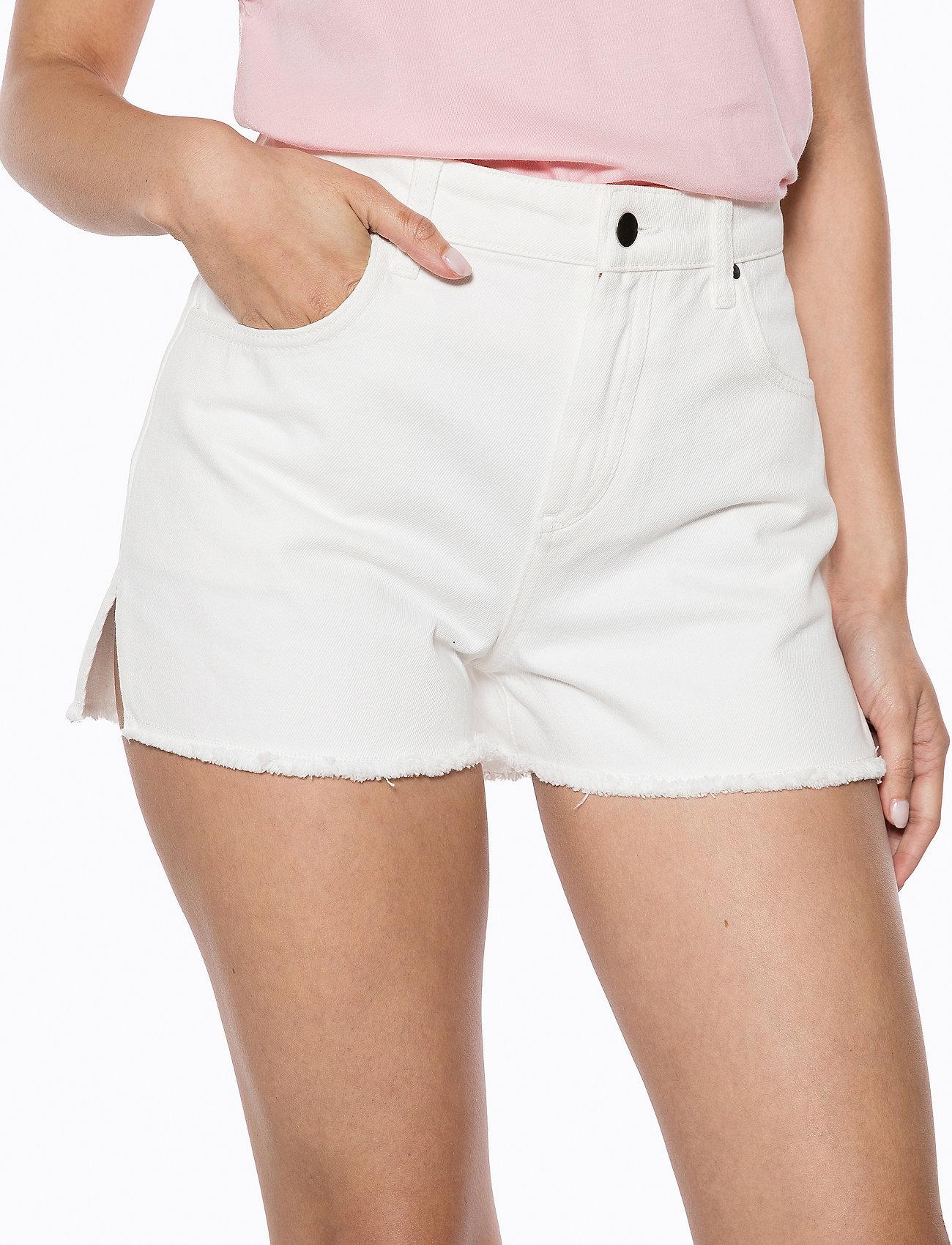 Ivyrevel Raw Edge Denim Shorts - Shorts WHITE