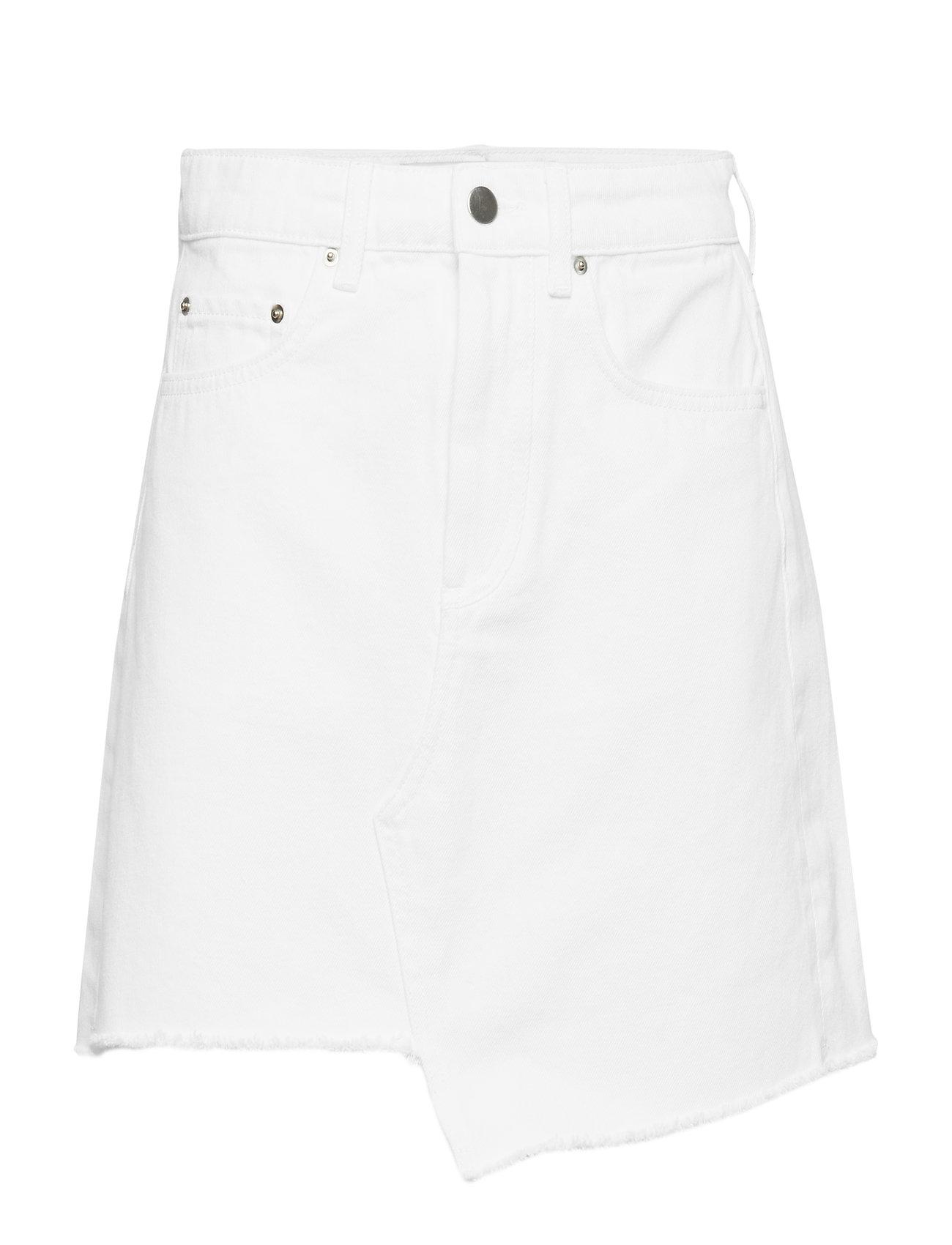 Image of Raw Edge Denim Skirt Kort Nederdel Hvid Ivyrevel (3158643935)
