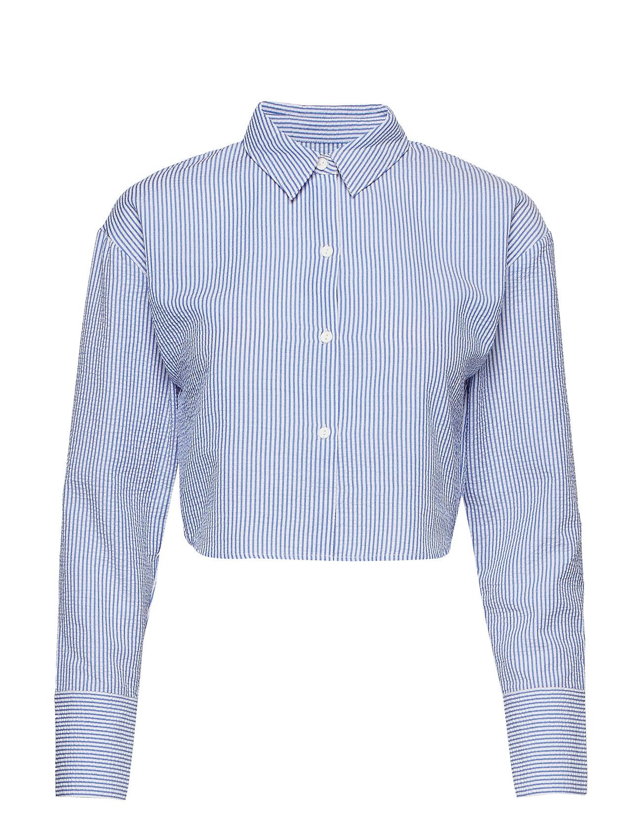 Ivyrevel Cropped Shirt - BLUE MIX