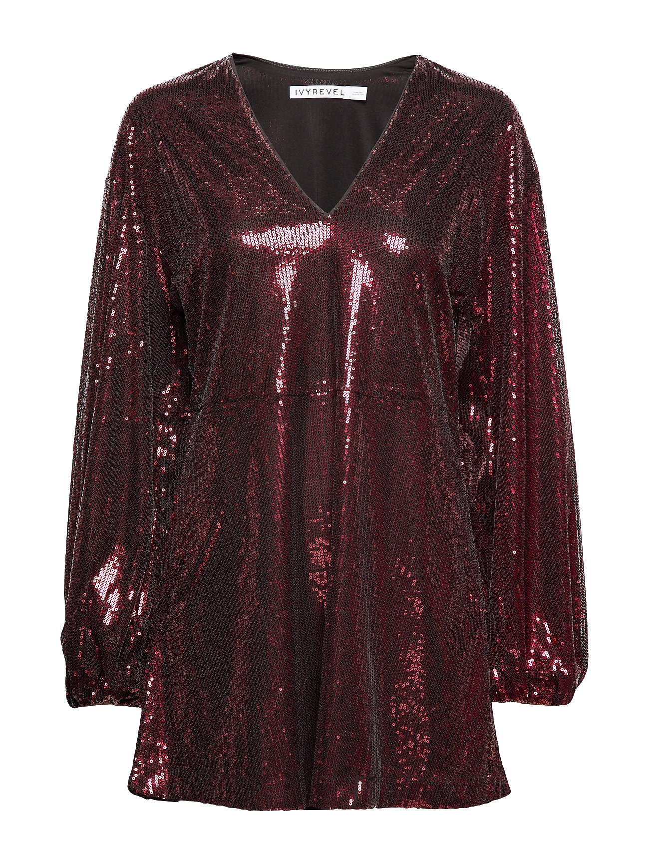 Ivyrevel FLOWY SEQUIN DRESS - BURGUNDY