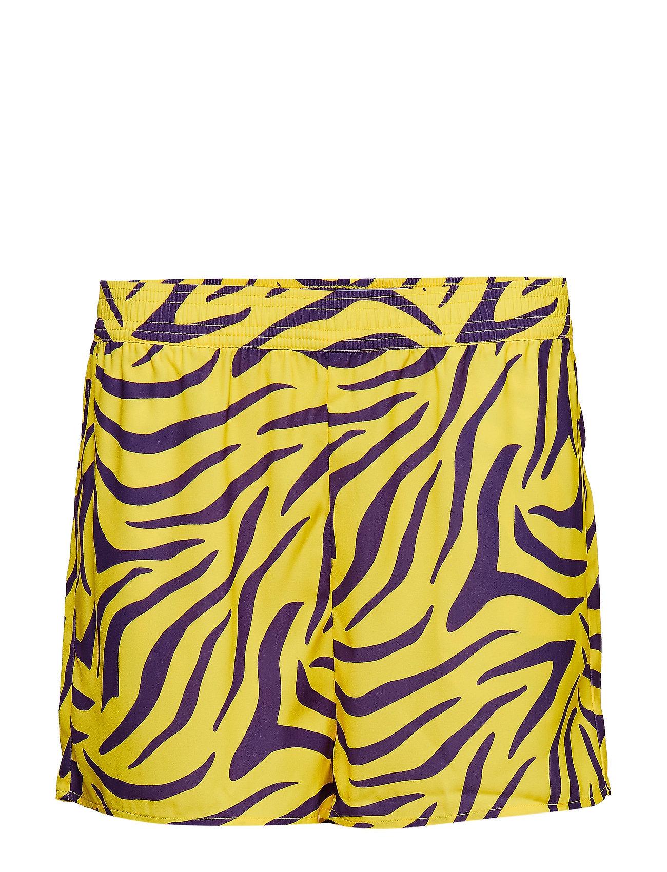 Ivyrevel High Waist Shorts - PURPLE/YELLOW