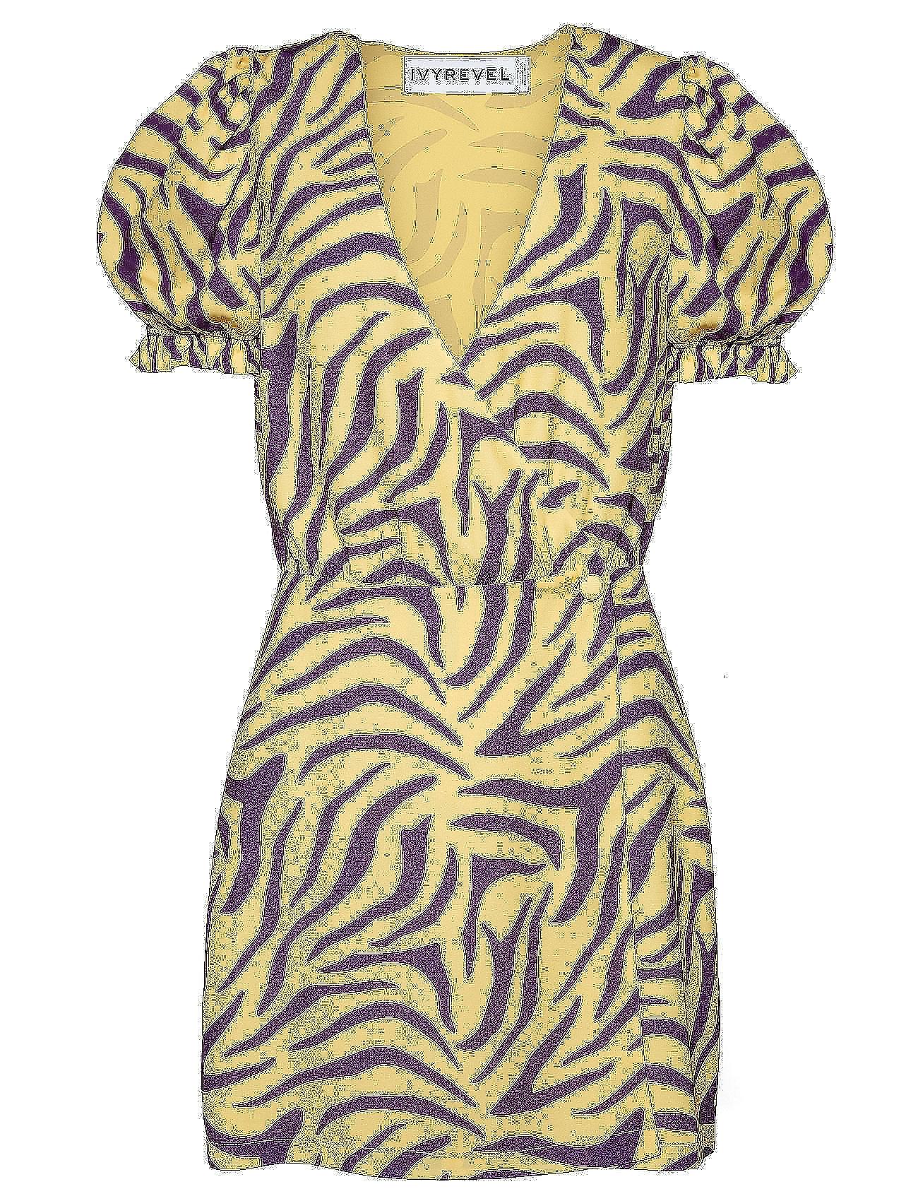 Overlap Dresspurple Sleeve Puff Puff yellowIvyrevel Sleeve thQdsrxCBo